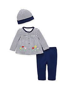 Baby Girls Flower Cardigan Set