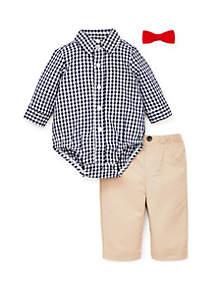 4b5a0abe1b6 ... Little Me Baby Boys Navy Check Pant Set