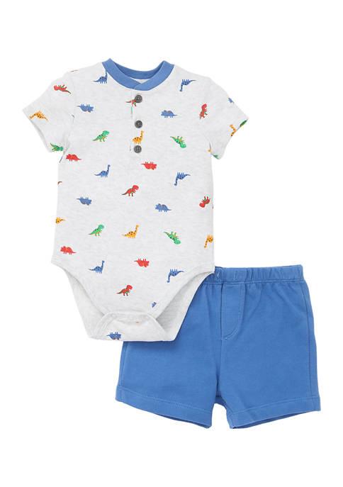 Little Me Baby Boys Dino Short Set