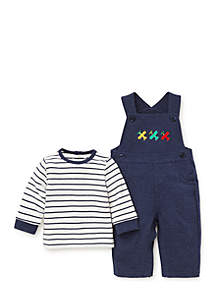 Baby Boys Airplanes Knit Overall Set