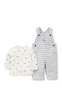 Baby Boys Elephants Knit Overall Set