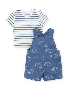 Black//Grey Size Little Me Baby Boys 2 Piece Pant Set 12 Months