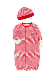 Infant Boys Holiday Bear Gown Hat