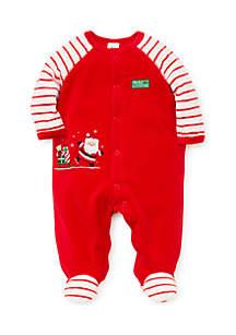 Baby Boys Santa Velour Footie
