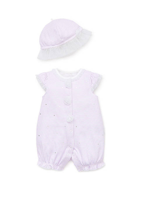 Little Me Baby Girls Shiny Dots Romper