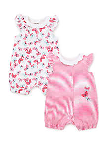 b2f0a980f85e ... Little Me Baby Girls Butterfly 2 Piece Rompers