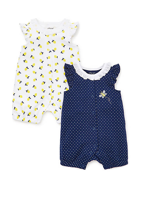 Little Me Baby Girls Lemons 2 Piece Rompers