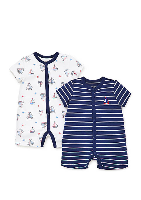 Little Me Baby Boys Nautical 2 Pack Rompers