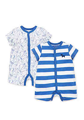 78c781bc4 Little Me Baby Boys Puppies 2 Pack Rompers ...