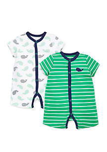 e83fa5df9 ... Little Me Baby Boys Whales Romper Set