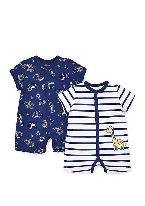 Little Me Baby Boys Giraffe Pals Romper Set