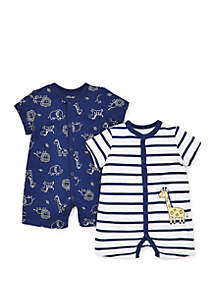 ... Little Me Baby Boys Giraffe Pals Romper Set