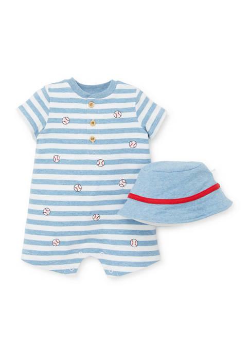 Little Me Baby Boys Baseball Romper and Hat
