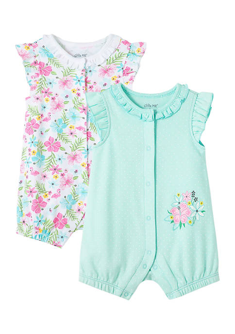 Little Me Baby Girls Tropical 2-Pack Rompers
