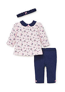 Baby Girls Ditsy Floral Tunic Set with Headband