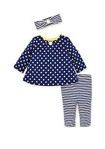 Baby Girls Daisy Dot Tunic Set