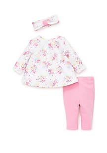 Baby Girls Dot Spray Tunic Set