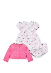 Baby Girls Dachshund Dress Set