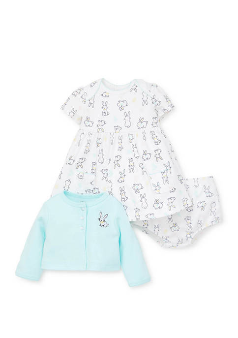 Little Me Baby Girls Bunny Dress Set