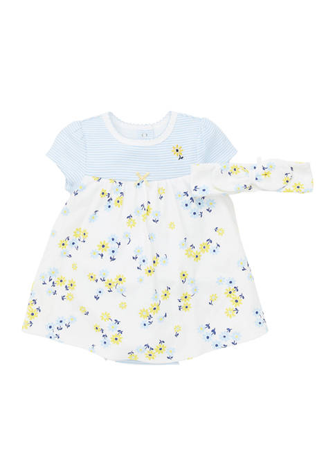 Little Me Baby Girls Daisy Bodysuit Dress