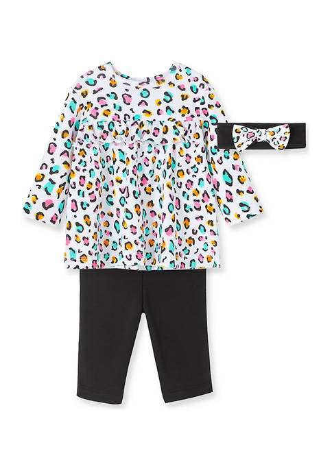 Little Me Baby Girls Leopard Tunic Set