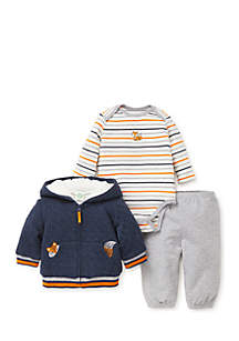 Infant Boys Fox 3-Piece Hoodie Set