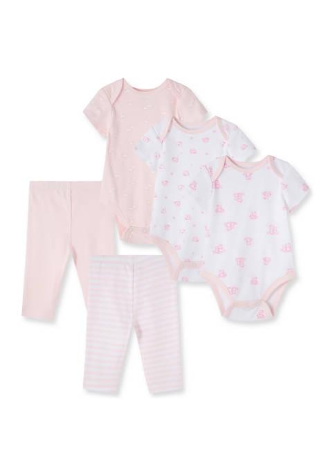 Little Me Baby Girls Wispy 5-Piece Bodysuits with