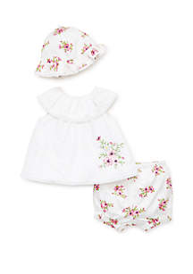 1afc375b7f2 ... Little Me Baby Girls Spring Posy 3 Piece Set