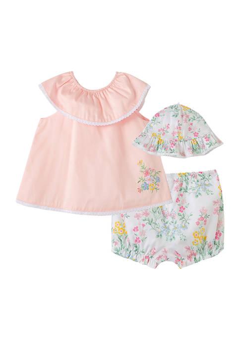 Little Me Baby Girls Spring Bouquet 3-Piece Shorts