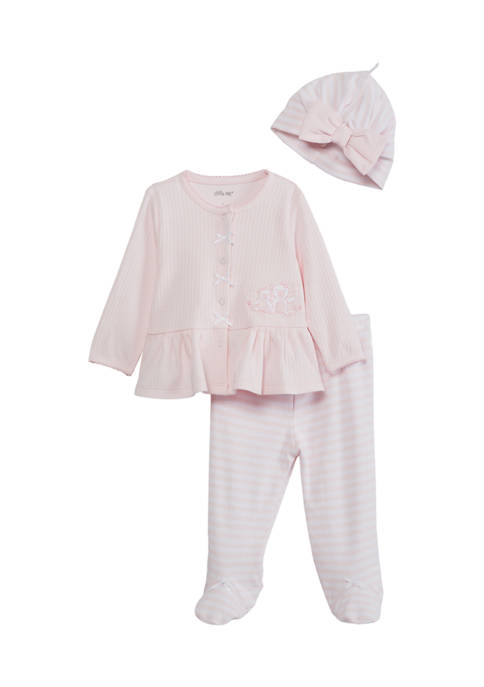 Little Me Baby Girls Bears Cardigan Set