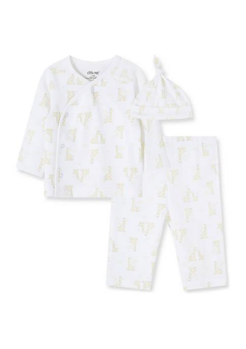 Little Me Baby Boys Giraffes 3 Piece Set