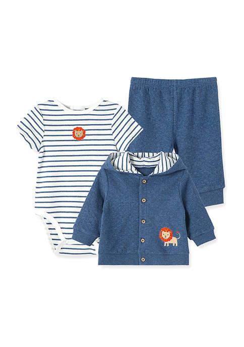 Little Me Baby Boys Lion Cardigan Set