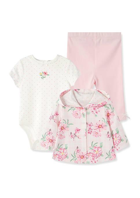 Baby Girls Wildflower 3 Piece Cardigan Set