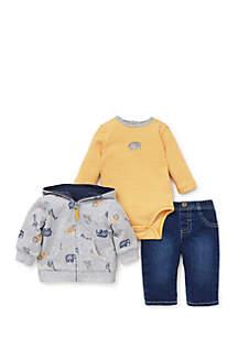 Infant Boys Jungle Three-Piece Jacket Set