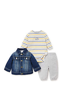 Infant Boys Jaunty 3-Piece Jacket Set