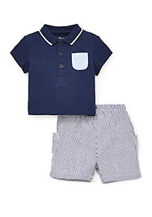 Little Me Baby Boys Sailing Short 2-Piece Set