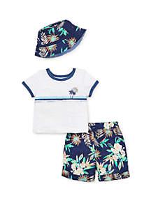 Little Me Baby Boys Tropics Short Set
