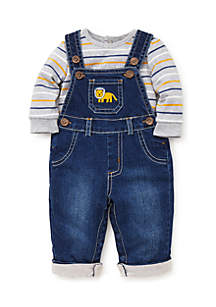 Infant Boys Lion Overall Set
