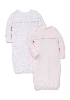 Little Me 2-Pack Dainty Sleeper Gown Set