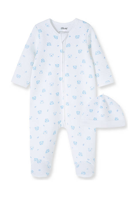 Little Me Baby Boys Bear Quilt Footie with
