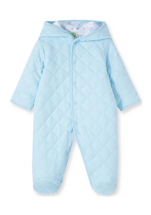 Little Me Baby Boys Blue Quilted Pram