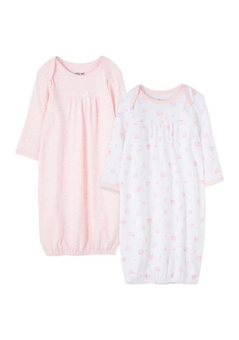 Baby Girls Wispy Bears 2 Pack Gown Set