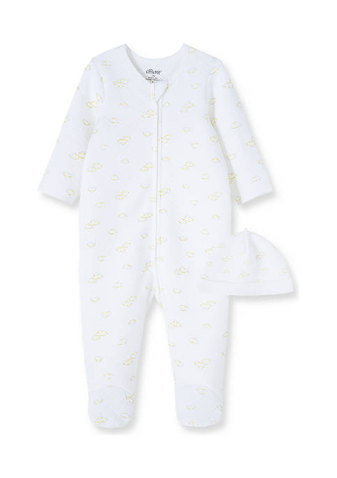 Little Me Baby Boys Clouds Quilt Footie with
