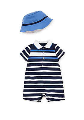 b6da9708df8d Little Me Baby Boys Sail Stripe Romper 2-Piece Set ...