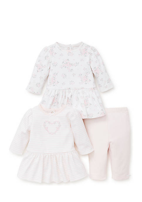 Little Me Newborn Girls Dainty Roses 2-Pack Dress