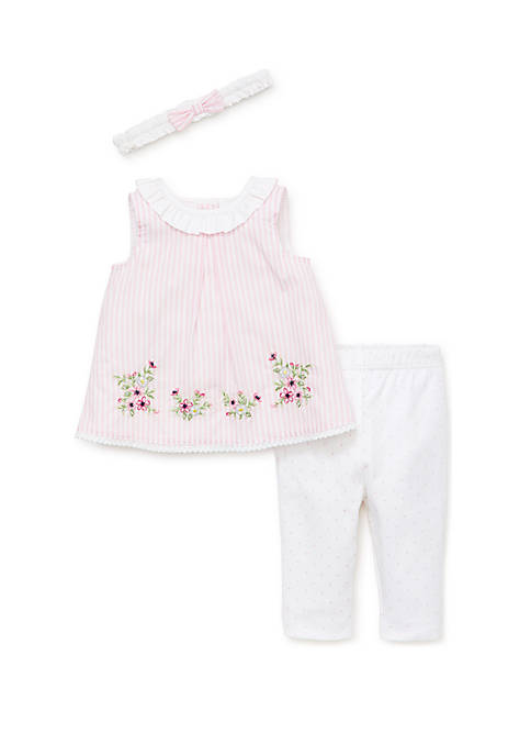 Baby Girls Garden Border Tunic Set
