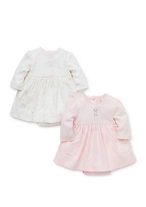 Baby Girls Puppy Bodysuit Dresses