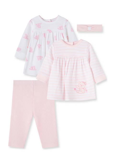 Little Me Baby Girls Bears Tunic Set