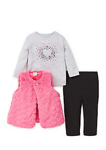 Infant Girls 3-Piece Vest Set