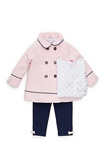 31c491444 Little Me 3-Piece Faux Wool Jacket Set